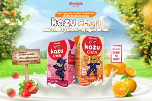 [Theo Tuoitre.vn] Aiwado ra mắt sữa trái cây và sữa chua uống Kazu Chan