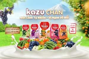 [Theo Vietnamnet.vn] Aiwado ra mắt sữa trái cây & sữa chua uống Kazu Chan mát lành tự nhiên